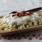 Bryndzové Halušky: Slovak potato dumplings with sheep cheese