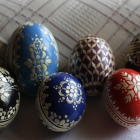 The Intricate Art of Straw-decorated Easter Eggs