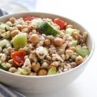Chickpea and Barley Greek Salad