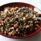 Wild Rice Stuffing with Apricots, Almonds, Sage