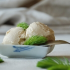 Spruce Tip Ice Cream (Dairy Free) + Spruce Tip Salt and Honey