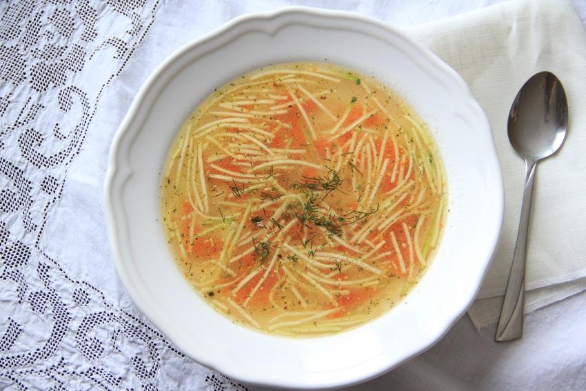 Slovak Bone Broth Sunday Soup
